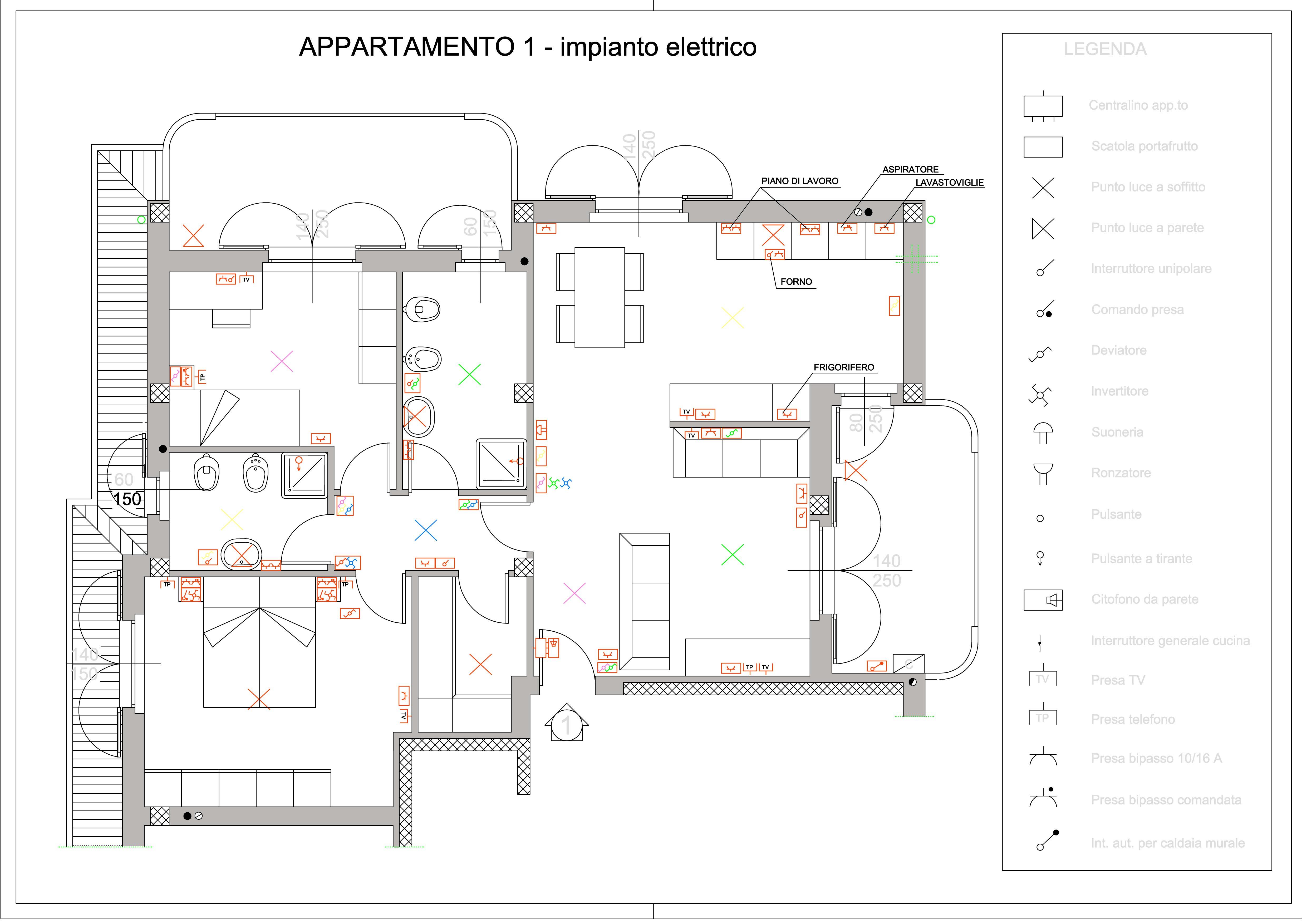 Impianti elettrici schemi fabulous schema elettrico for Schema impianto elettrico casa